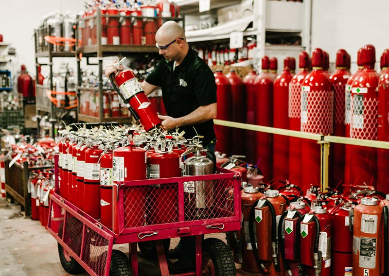 inspecting-fire-extinguishers